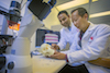 Dr. Srinivas Myneni and Dr. David Lam within Stony Brook School of Dental Medicine Research Lab
