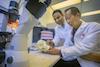 Dr. Srinivas Myneni and Dr. David Lam within Stony Brook School of Dental Medicine Research Lab