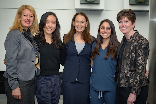 Ms. Melissa Marlin, Ms. Erin Wang, Dr. Ann Nasti, Dr. Jenna Chimon, and Dr. Mary Truhlar Photo