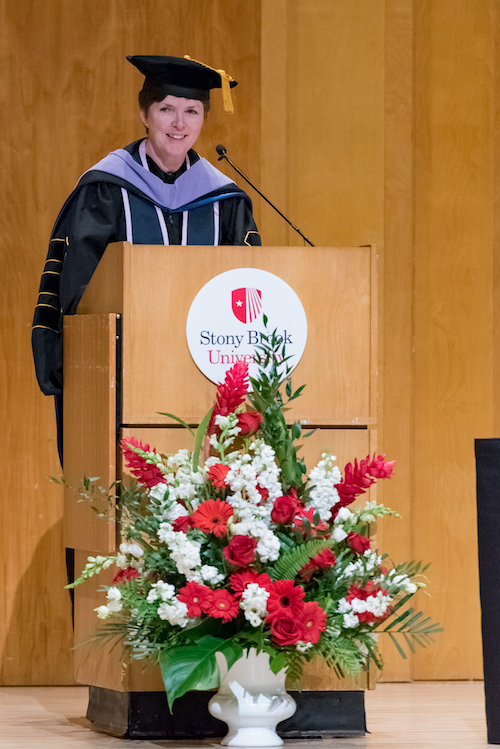 Mary Truhlar, DDS, Dean Welcomes Candidates and Guests to the 2018 Commencement Ceremony at Stony Brook School of Dental Medicine