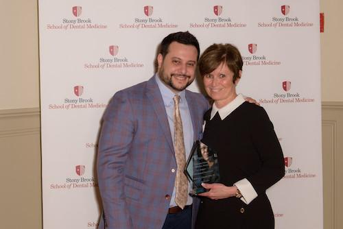 Dr. Thomas Grandville and Dr. Debra Cinotti at Stony Brook University School of Dental Medicine's Annual Senior Celebration Dinner