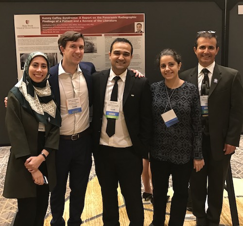 Members of Stony Brook School of Dental Medicine's Oral and Maxillofacial Radiology Program, Left to Right: Dr. Mina Mahdian, Dr. Ryan Holmes, Dr. Jalal Bukhari, Dr. Maryam Ajami, and Dr. Dan Colosi