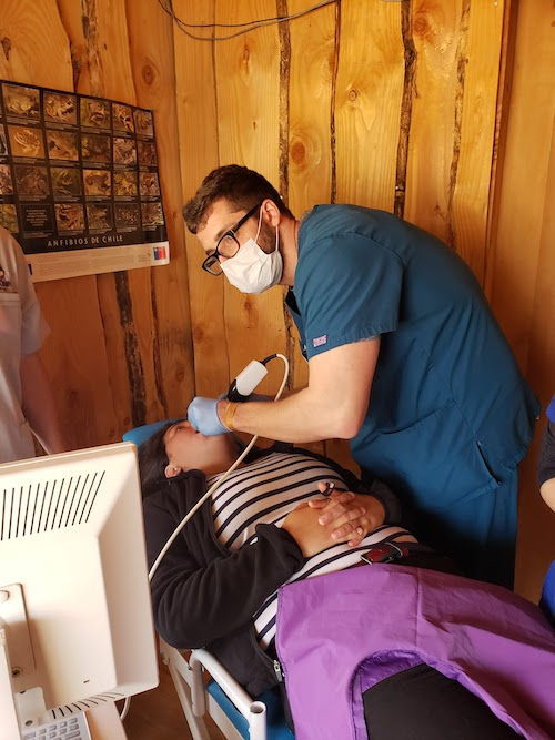 Stony Brook School of Dental Medicine provides oral health care services in Neltume, Chile.