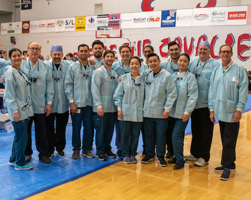 Stony Brook School of Dental Medicine Team at Remote Area Medical Event in Cookeville, TN