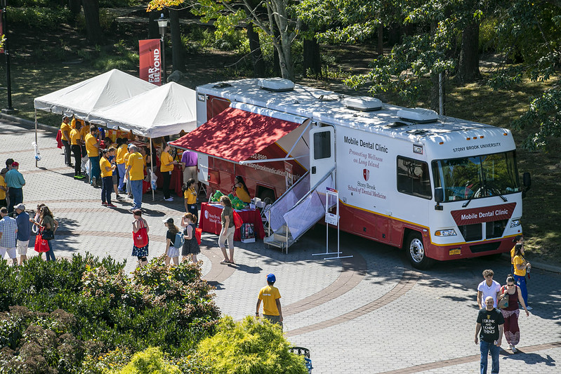 Stony Brook University School of Dental Medicine's Mobile Oral Health Services Clinic Parked on Campus at CommUniversity Day