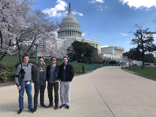 David Minoli, Joe Manzella, Rocco Tedesco, and Alexander McGuiness Attended ADA Student Lobby Day in Washington D.C.