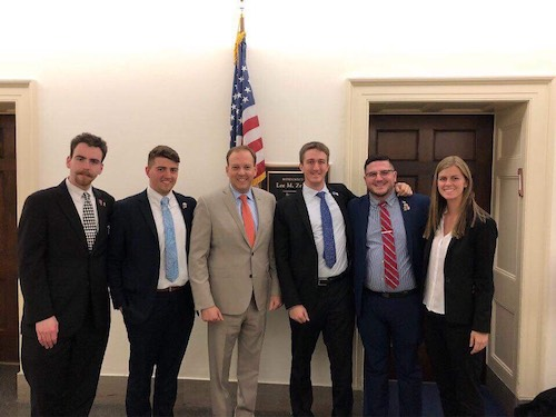 SDM Students Meet With Congressman Lee Zeldin in Washington D.C.