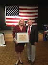 Mary Mehmel, Patient Care Services Coordinator at Stony Brook's School of Dental Medicine Receives Honor from the Coalition of Fraternal and Veteran Organizations' Chairman, Tom Kuhn