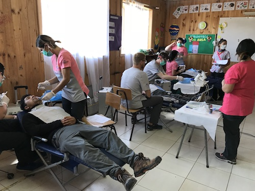 School of Dental Medicine Assists in Providing Care in Neltume, Chile