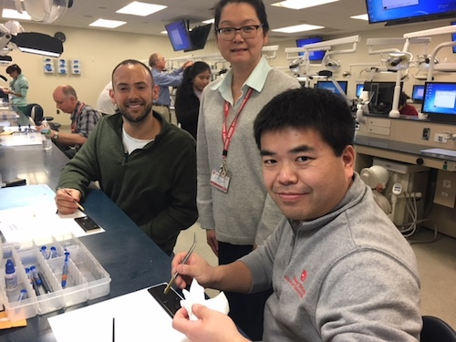 Students and Faculty Received Hands-on Training on Staining of Ceramic Restorations