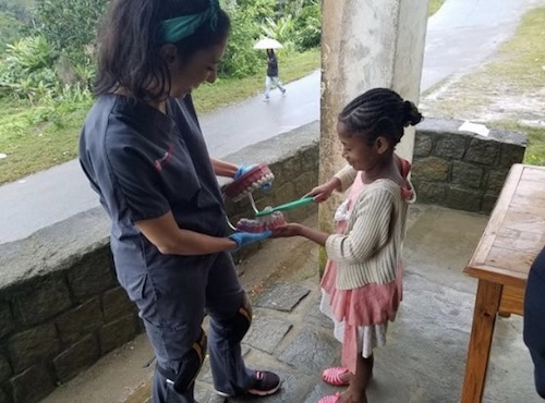 Stony Brook School of Dental Medicine Student, Taylor Truncali, Provides Oral Health Education in Madagascar