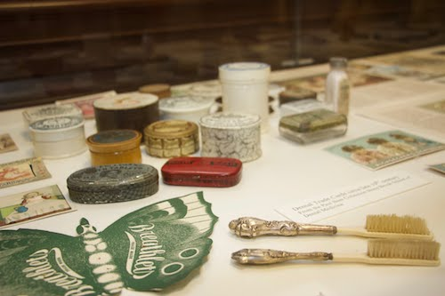 Pieces of dental history on display at the Health Sciences Library