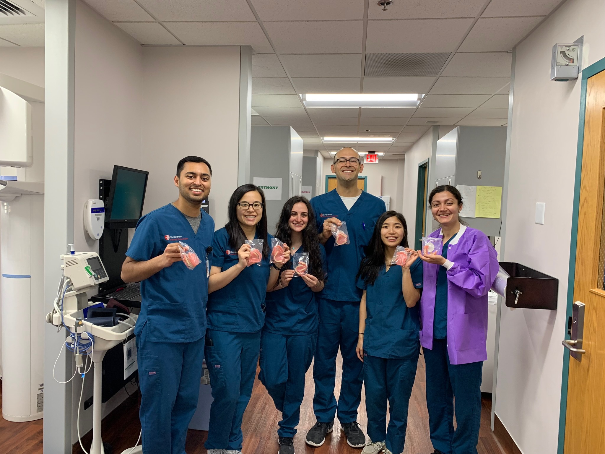 The Stony Brook School of Dental Medicine team at Pine Ridge Indian Health Services Hospital
