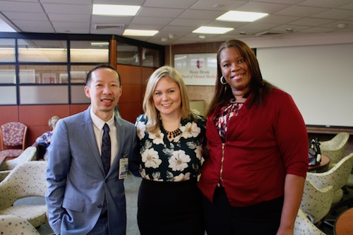 Dr. David Lam, Ms. Vickie Panetta, and Ms. Aly Andrews
