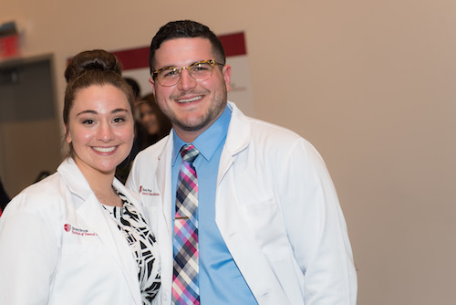 Loredana Calce and Joseph Manzella at SDM's 2021 White Coat Ceremony