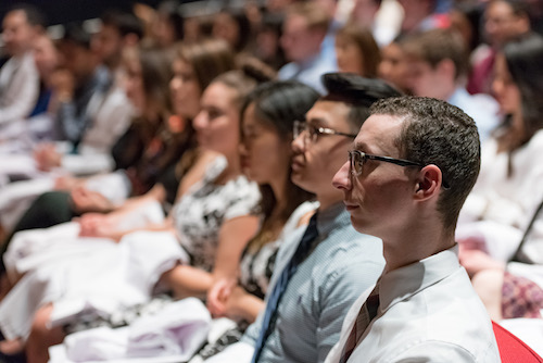 Class of 2021 at SDM's White Coat Ceremony
