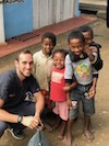 Stony Brook School of Dental Medicine Student, Brandon Gruffi, in Madagascar