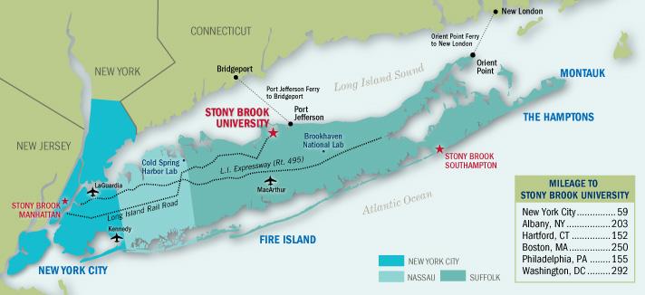 Map Of New York City And Long Island.Life On Long Island Stony Brook University School Of Dental Medicine
